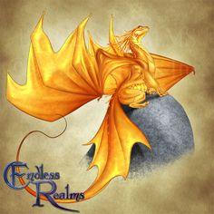 Endless Realms bestiary - Citrine Dragon by jocarra on DeviantArt Fantasy Dragon, Fantasy Rpg, Dragon Art, Dnd Dragons, Cool Dragons, Magical Creatures, Fantasy Creatures, Dragon Poses, Dragon Pictures