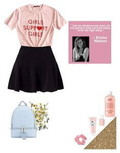 """""""💕"""" by nutterfly123 ❤ liked on Polyvore featuring Sephora Collection, philosophy, Essie, Miss Selfridge, Emma Watson, MICHAEL Michael Kors, Mudd and MyFaveTshirt"""