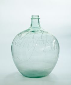 Our work of the week is David Peace's 'Glass Carboy' from 1970. 'The beauty of the glass itself is seldom obstructed by his markings, but instead vibrates and glitters.' Jim Ede
