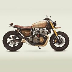 Built to survive: Yes, this is the actual Honda Nighthawk ridden by Daryl Dixon in the latest episode of The Walking Dead. Actor Norman Reedus already has a Classified Moto bike in his garage, so builder John Ryland got the shoulder-tap. And he discovered Honda Nighthawk, Honda Cb750, Yamaha Yzf R6, Honda Scrambler, Cb Cafe Racer, Cafe Racers, The Walking Dead, Moto Cafe, Cafe Bike