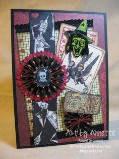 Annette's Creative Journey: Graphic 45 meets Tim Holtz Halloween