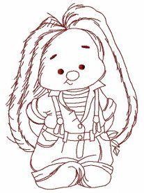 Bunny Mi the gardener 2 machine embroidery design. Machine embroidery design. www.embroideres.com