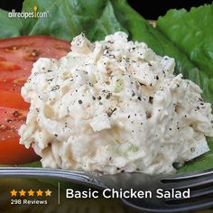 "Basic Chicken Salad | ""I've made this a few times and it's become my go-to chicken salad recipe. You can't mess it up and it's addictive. The flavor's best the next day, so make it ahead if you can... but it's good no matter what!"""