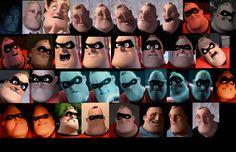 Pixar: The Incredibles   Mr Incredible Faces #2