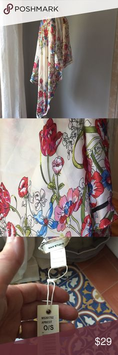 """🌷a garden of delight scarf so dreamy with its bouquet of flowers and silky touch, 100% poly, cold wash 39"""" square scarf Max Studio Accessories Scarves & Wraps"""