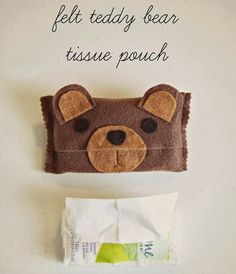Tutorial: Felt teddy bear tissue pouch