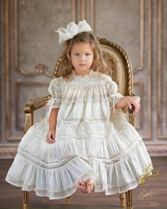 Beautiful Child in a Delicious Gown by Mela Wilson. Image captured at Laura Cantrell Portrait Studio. www.lauracantrellphotography.com