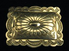 Stamped Sterling Silver  Concho Money Clip 24.5 Grams