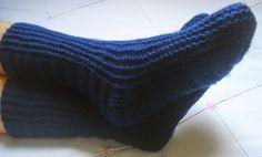 Minhas linhas e eu: Receita de meia fácil e linda, em tricot