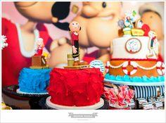 Olha que amor esta Festa Popeye para um casal de gêmeos. Amor a primeira vista por esta linda decoração. Imagens enviadas pela mamãe Joanna Castelo Branco Tristã...