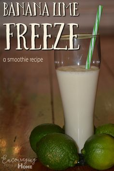 Smoothies are great for breakfast, lunch or anytime of day!  Our Banana Lime Freeze is sure to be a favorite for everyone.