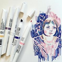 https://flic.kr/p/zNjzNg | Trying out some Winsor and Newton Pigment markers on Strathmore Mixed Media Paper. #pigmentmarker #winsorandnewton