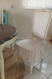 upholstering over cane backed dinning room chairs. On my TO DO list!