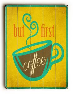 Wooden Sign Coffee Sign Kitchen Decor by HappyLetterShop on Etsy