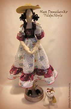 Tilda bonecas artesanais. Mestres justo - Keeper artesanal jardim de março. Handmade.