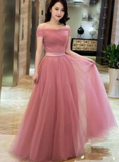 Elegant prom dresses - Plus Size Prom Dress, Off Shoulder Dusty Pink Gowns,Long Formal Dresses, Laceup Prom Dresses 2018 – Elegant prom dresses Junior Prom Dresses, Elegant Prom Dresses, Prom Dresses 2018, Tulle Prom Dress, Cheap Bridesmaid Dresses, Pretty Dresses, Lace Dress, Dress Formal, Dress Long