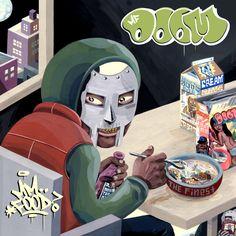 """MF DOOM's """"MM...Food"""" artwork by Jason Jagel. Released via Rhymesayers Entertainment 2004."""