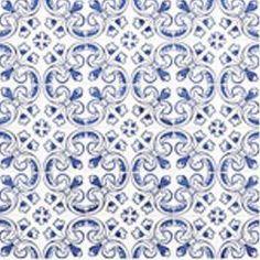 Modrý keramický obklad AVEI NORTE DECOR, 20x20 cm, 1 m2
