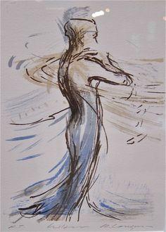 Runi Langum: Hilsen, lito, 16x20cm, UTSOLGT Art, Kunst, Art Background, Performing Arts, Art Education Resources, Artworks
