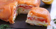 Pastel de salmón fácil para Navidad