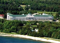 The Grand Hotel on Mackinac Island(Michigan).Yep,this is on my bucket list for sure! This was where the movie Somewhere In Time was filmed : )