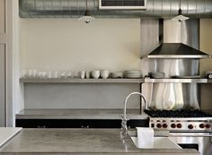stainless steel and beton
