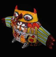 Subscribe to my boards to see my new artwork. 3D Gif image Happy Art ceramics majolica Animal