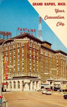 Grand Rapids Michigan~Pantlind Hotel~Convention Center~Woolworths~1960s Postcard | eBay