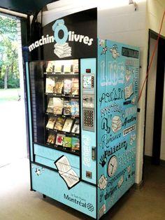 Les bibliothèques du Sud-Ouest de Montréal proposent cet été, dans ses nouvelles… Old Libraries, Little Free Libraries, Little Library, Dream Library, Bookstores, World Of Books, My Books, King Book, Vending Machines