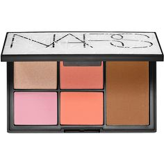 NARS Virtual Domination Cheek Palette ($65) ❤ liked on Polyvore featuring beauty products, makeup, beauty, blush, cosmetics, nars, palette makeup, powder blush, nars cosmetics and highlight makeup