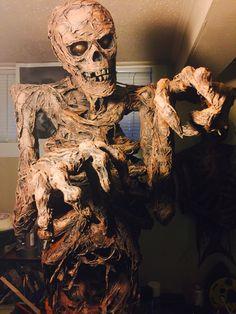 skeleton mummy halloween sculpture slender by gourdin fester