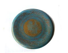 Copper gift. Decorative plate. Trinket dish. Copper plate. Engraved plate. Ancient egypt. Painted copper. Egyptian decor. Painted plate.