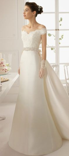 vestido de novia, bridal dress, Aire Barcelona