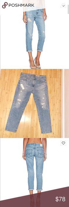 AG Adriano Goldschmied Ex Boyfriend Jeans AG Adriano Goldschmied Ex-Boyfriend Jeans in 24 Years Relief. Cropped, distressed denim. Ag Adriano Goldschmied Jeans Boyfriend