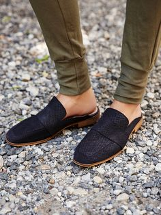 At Ease Loafer | Made from the finest Spanish craftsmanship, these classic loafers are in a slip-on style with a square toe and subtle stacked heel. Padded footbed for a comfy fit.
