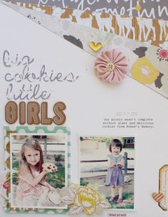 This month at Citrus Twist the reveal of the September kits came a little earlier thanks to an adjustment of schedule. Kids Scrapbook, Scrapbook Pages, Scrapbook Layouts, Scrapbooking, Big Cookie, Picture Layouts, Studio Calico, Little Girls, Kids Girls
