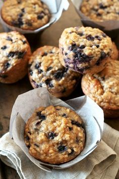 won't find any butter or oil in these ridiculously soft and tender Blueberry Oat Greek Yogurt Muffins! What you will find is plenty of naturally sweetened, blueberry goodness in each bite! Blueberry Yogurt Muffins, Greek Yogurt Muffins, Greek Yogurt Recipes, Blue Berry Muffins, Whole Wheat Blueberry Muffins, Blueberry Oatmeal Bread, Greek Yogurt Oatmeal, Greek Yogurt Breakfast, Gluten Free Blueberry Muffins