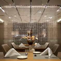 Glass Tile System at the Plaza Hotel  by Fabbian