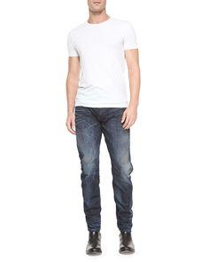 Arc 3D Washed Slim Denim Jeans, Dark Blue