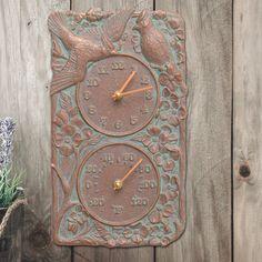 Cardinal Indoor/Outdoor Thermometer Wall Clock