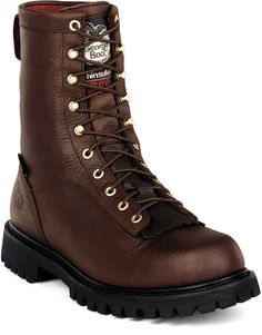 G8043 Georgia Men's Insulated Work Boots - Chocolate