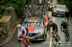 The Tour of Britain 2016 passing close to Windermere