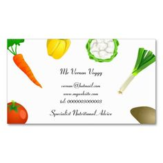 Man Juggling Vegetables Business Card Templates. This great business card design is available for customization. All text style, colors, sizes can be modified to fit your needs. Just click the image to learn more!