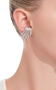 White Gold and Diamond Earcuff by Joelle Jewellery | Moda Operandi