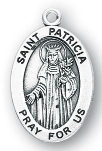 Sterling Silver Oval Shaped St. Patricia Medal