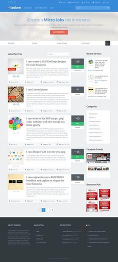Taskerr WordPress Theme like Fiverr & TaskRabbit Job Marketplace Create Logo Design, Can Design, Custom Logo Design, Job Website, Website Themes, Portfolio Pictures, Money Making Machine, Job Portal, Job Posting