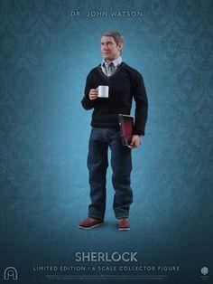 I vestiti degli action figure del Dr.John Watson sono una fedele riproduzione degli originali indossati negli episodi della serie.