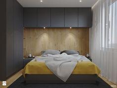 Projekt mieszkania. Kraków Nowe Czyżyny - Mała sypialnia małżeńska, styl nowoczesny - zdjęcie od PRØJEKTYW | Architektura Wnętrz & Design