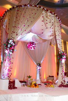 mandaps toronto Wedding Mandap, Wedding Ceremony, Wedding Day, Dream Wedding, Wedding Canopy, Wedding Hall Decorations, Marriage Decoration, Flower Decorations, Best Wedding Planner