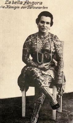 La Bella Angora German tattooed lady